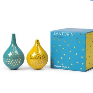 New JONATHAN ADLER Santorini Salt & Pepper shakers